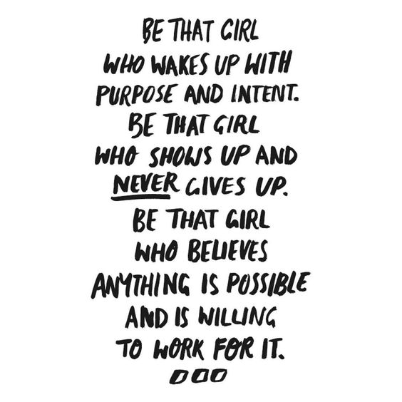 be that girl quote